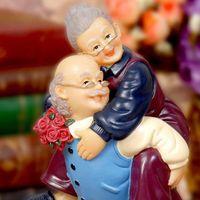 Wholesale miniature plastic plants resale online - Q Glory Resin Figurines Wedding Elegant Home Decoration Accessories Home Decor Garden Figures Miniature Love Gifts Souvenir Grandma