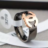 hombre de metal al por mayor-Venta caliente 316L acero titanium moda anillo con esmalte colores mujer y hombre original marca anillo jewelry.2018
