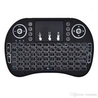 mini klavye touchpad bluetooth toptan satış-Mini Kablosuz Bluetooth Uzaktan Touchpad Fare / Fare Klavye Tuş PC Android Akıllı TV için 2.4 GHz Şarj Edilebilir