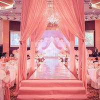 зеркальный свадебный ковер оптовых-Широкий блеск серебряное зеркало ковер для романтической свадьбы выступает партия декора поставки красочные сгущает поверхность сукно новое прибытие 2 08lc BB