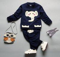 2pc mädchen trainingsanzug groihandel-Baby-Kleidung Frühlings-Herbst-Cartoon Langarm-T-Shirt + beiläufige lange Hosen 2pc Anzüge Mädchen Kleidung Set Sport Anzug