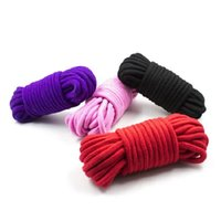 Wholesale Wholesale Adult Harnesses - 10 Meters 33FT Long Thick Strong Cotton Rope Fetish Sex Restraint Bondage Ropes Harness Flirting SM Adult Game Sex Toys for Couples