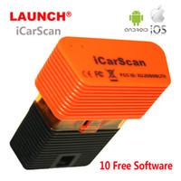 lançamento bluetooth obd2 venda por atacado-Lançar iCarScan Ferramenta de Diagnóstico Auto OBD OBDII Motor Scanner Sistema Completo para Android iOS IDENG OBD2 X431 Easydiag M-diag com 10 Software