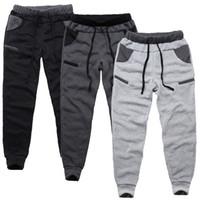 Wholesale velvet pants for men - Men's Harem Pants For Jogger Spring Regular Elastic Waist Pants Sport Casual Pants With Velvet Trousers