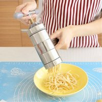 Wholesale Manual Hand Press Machine - Stainless Steel Pasta Noodle Hand Maker Manual Press Machine with 5 templates Vegetable Kitchen Tools wen5467