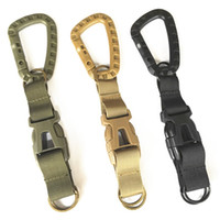Wholesale tactical belt webbing - Outdoor Gadgets Key Chain Mochila Webbing Hook Ribbon Carabiner Tactical Backpack Hanging Camping Equipment Waist Belt Buckle 7yf bb