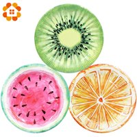 принадлежности для посуды оптовых-6pcs/lot Lifelike Fruits Series Disposable Tableware Plate Paper Material Party Supplies Wedding Birthday Pool Party Decoration