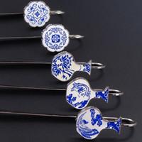 yer imi okuma toptan satış-2018 Çin tarzı Mavi ve beyaz porselen Imi Zihinsel Okuma imi Çin özellikleri ile kültürel hediyeler Seladonlar Porselen