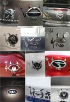 etiquetas do rio de kia venda por atacado-3 Cor Diabo 3D Etiqueta Do Carro Car styling decal para kia rio 3 2018 ceed sportage 2017 acessórios sorento