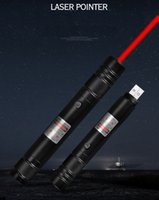 kırmızı lazer işaretçi piller toptan satış-Yeni Stil BGD6 650nm Kırmızı Lazer Pointer Kalem Dahili Şarj Edilebilir Pil USB Şarj Lazer Pointer Ofis ve Öğretim Için