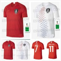Wholesale h cup - 2018 World Cup jersey H M SON S Y KI soccer jerseys home away H M SON national team football shirt TOP THAI QUALITY
