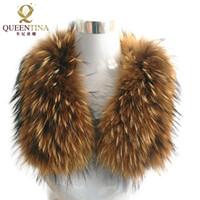 ingrosso scialli di raccooni-100% naturale genuino collo di pelliccia di procione scialle donne scrollata di spalle moda invernale integrale scialle caldo vera pelliccia scialle avvolgere capo stola