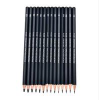 lápis de desenho 4b venda por atacado-14pcs Esboço e Desenho Conjunto de Lápis HB 2B 6H 4H 2H 3B 4B 5B 6B 10B 12B 1B