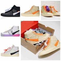 best website ba5d9 7498f New Blazers Studio Mid Rainbow All Hallows Eve Grim Reepers The Queen OFF  Mens Scarpe da corsa da donna Nero Bianco Giallo Sport 10X Sneakers