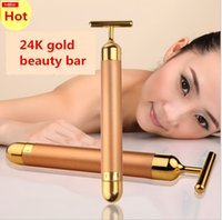 Energy Beauty Bar 24K Gold Pulse Rassodante Massager del rullo del massaggiatore facciale Derma Skincare Wrinkle Treatment Massager del viso