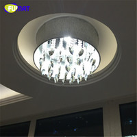 Wholesale Chandeliers Shades Crystals - FUMAT Smoke Grey Crystal Chandelier Modern Suspension Light For Living Room Bed Room Gray Shade Light LED K9 Crystal Chandeliers