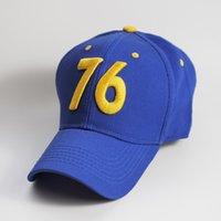 ventiladores de plástico al por mayor-76 gorra de béisbol bordada de Fallout del logotipo 3D, sombreros frescos del papá del club de los fans del juego, sombrero plástico del diseñador del Snapback de la tendencia caliente