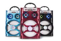 büyük müzik kutusu toptan satış-V4.1 MS-166BT Büyük Ses Açık Müzik HiFi Hoparlör Taşınabilir Hoparlörler Bas Kablosuz Subwoofer Müzik Kutusu TF FM AUX Radyo Perakende Kutusu Ile 20