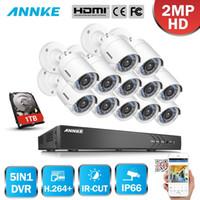 16 kanallı dvr fotoğraf makinesi seti toptan satış-ANNKE 16CH 2MP HD 13 ADET DVR Güvenlik Kamera Sistemi Açık 5 in 1 H.264 IP66 Hava CCTV Gözetim Kiti IR HDD 1/2 / 3TB