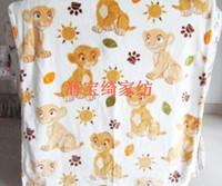 52bb6e091422c Cute Cartoon Le Roi Lion Simba Nala Bébé Doux Corail Couverture De Molleton  Canapé Enfants Cadeau 80 cm   100 cm
