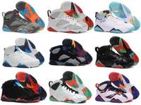 basketbol mujer toptan satış-[Kutu Ile] 7 Basketbol Ayakkabı Kadın Erkek Sneakers Otantik Zapatos Mujer Homme dan s Ayakkabı 7 s VII US8-13
