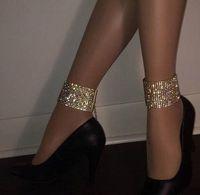 ingrosso accessori per la caviglia-Braccialetto di cristallo della caviglia di cristallo del cristallo di multi fila per le donne Accessori di cerimonia nuziale nuziale Monili del piede del braccialetto delle donne 1pcs