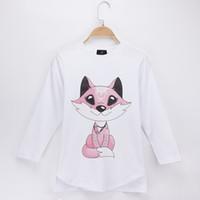 7a7da6c2f86 2018 New Spring Autumn Fashion Kids Clothes Girl T-shirts Fox Print 100%  Cotton Full Child Shirts Children Long Sleeve T Shirt Baby Tops Tee
