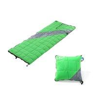 Wholesale duck pillows - 2018 Outdoor Down Sleeping Bag Ultralight White Duck Down Pillow Type Adult Envelope Keep Warm Camping Sleeping Bag CK204G
