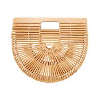 ingrosso borse vacanza-SAFEBET Marca FFashion mano kniing bamboo bag Viaggio vacanza Vintage Women borsa Popolare signore spiaggia di bambù borse di stoccaggio
