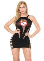 mini robe dos nu clubwear achat en gros de-Sexy dos nu femmes casual robe d'été cou o spaghetti sangle robes de plage vestidos sexy clubwear noir couleur rouge