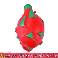 Wholesale for squishy resale online - 1 Dragon Fruit Squishy Kids Toys Slow Rising Squishies Squeeze Toy for Home Decor Stress Relief Gifts for Teens Adults Scented Ornament