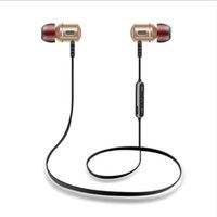 ingrosso cuffie costruite mic-Cuffie Bluetooth, Wireless 4.1 Auricolari magnetici, Vestibilità aderente per lo sport con microfono incorporato (impermeabile, aptX stereo, cVc 6.0 Noise Cancelling