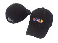 siyah çapraz gömlek toptan satış-Tyler Creator Golf Şapka-Siyah Baba Kap Wang Çapraz T-shirt Earl Odd Gelecek ücretsiz kargo