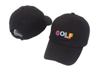 Wholesale odd future cap resale online - Tyler The Creator Golf Hat Black Dad Cap Wang Cross T shirt Earl Odd Future