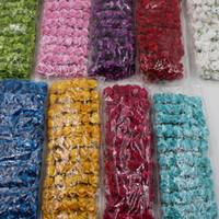 Wholesale Green Handmade Paper - 144pcs Multicolor 1.5cm Paper Rose Handmade Artificial Flowers For Wedding Home Decoration DIY Box Scrapbooking Garland Flowers