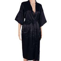мужчины сексуальные халаты оптовых-Hot Sale Black Men Sexy Faux Silk Kimono Bathrobe Gown Chinese Style Male Robe Nightgown Sleepwear Plus Size S M L XL XXL XXXL