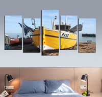 Wholesale boat landscape painting for sale - Group buy Wall Canvas Painting Abstract Modern Wall Art Picture Landscape Sea Boat Canvas Painting Home Decor For Bedroom Decor FA624