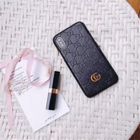 Wholesale plus gift online - For iPhone X s plus Luxury Brand Printing Leather Case for Galaxy S9 S9plus S8 S7 edge Note Fashion Gift Hard Back Cover