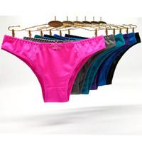 bikini mini hot toptan satış-Paket 12 Seksi Saten Dantel Bikini Külot Kadın Iç Çamaşırı Angola Pazarı Kadınlar için Ipek Hipster Lady Kısa Sıcak iç çamaşırı Külot Toptan