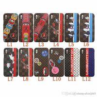 iphone6 plus hart hart großhandel-Case für iphoneX 7 8 plus Painted Penguin blume brief telefonkasten für apple iphone6 6S plus marke harte rückseitige abdeckung