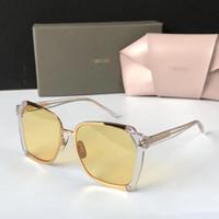 sonnenbrille halbe katze groihandel-Luxus FIXXATIVE Sonnenbrille Für Frauen Spezielle UV Schutz Frauen Markendesigner Vintage Cat Eye Halbrand Top Qualität Kommt Mit Paket