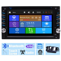 universal-auto-videos großhandel-Backup-Kamera + Multi-Touchscreen Audio Autoradio Monitor 2Din In Dash Video CD VCD Auto DVD-Player USB SD Radioempfänger Bluetooth Autoradio