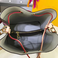 Wholesale single chain bucket resale online - M44022 Bucket bag flower printing Shoulder Bags Designer Handbags high quality Original material leather straps Luxury Handbags M44022