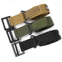 Wholesale nylon belts plastic buckles - Sturdy Army Men Tactical Belts Military Blackhawk CQB Nylon Belt Easy To Carry Waistband Hot Sale 12ln B