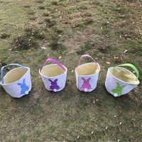 Wholesale Bunny Tails - Funny Design Easter Bunny Basket Rabbit Bag Tail Bags Canvas Easter Celebration Gifts Christma Bag 2018 Handbag for Kids Free DHL