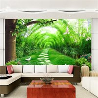 Wholesale Natural Style Landscaping - Custom 3D Wall Mural Wallpaper 3D Natural Landscape Country Lanes Wallpaper Bedroom Living Room Sofa TV Background 3D Home Decor