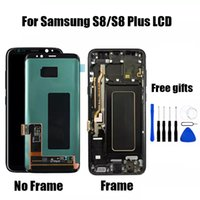 Wholesale Amoled LCD with touch For Samsung S8 Lcd Display S8 Plus lcd G950F G950U G950W8 G955F Touch Screen Digitizer Assembly frame