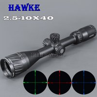 Wholesale HAWKE x40 AOIR Hunting Scopes RGB Illuminated Optic Sight Reticle Scope Full Size Tactical Scope For Airsoft Air Guns