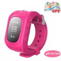 ingrosso guardare gsm sos-Q50 pk s668 Q90 orologio intelligente sos gps agbs lbs attività della carta SIM tracker 2G GSM chiamata bambini bambini bambino smart phone