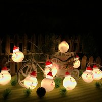 batterien verkauften weihnachten großhandel-Direktverkauf 3 m LED Lichter Weihnachten Schneemann Batterie Lichter Santa Weihnachtsbaum dekorative Lichter auf Lager